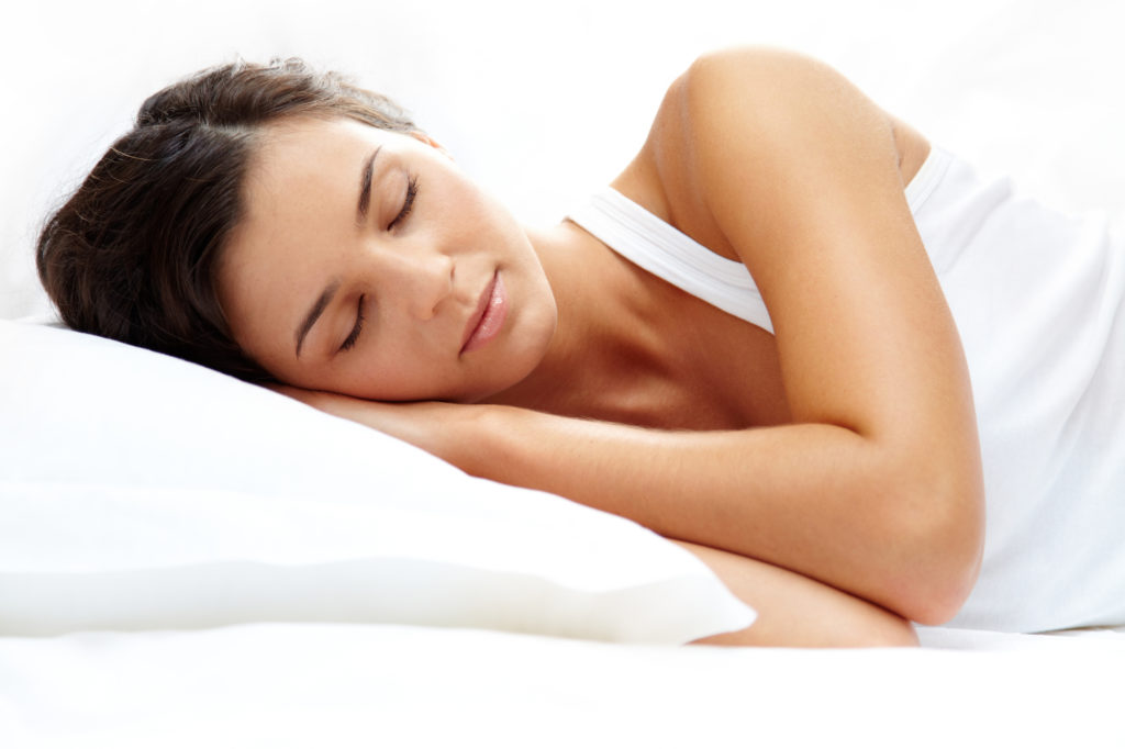 Sedation dentistry help young woman sleep soundly before her dental treatment in Pleasanton, CA.