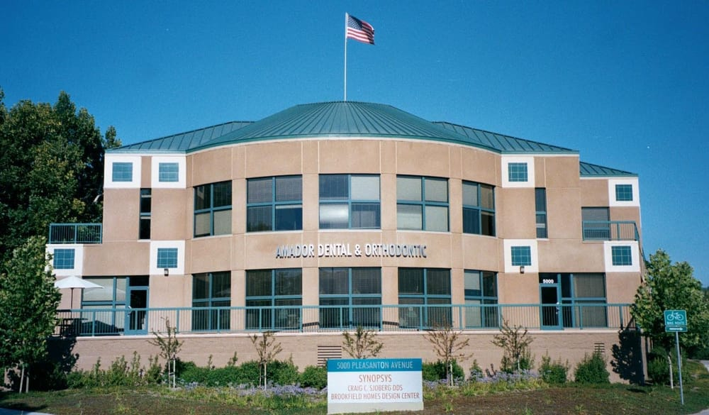 Outside view of Amador Dental and Orthodontic, offering dental services in Pleasanton, CA.